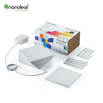 9 db. Nanoleaf Canvas Intelligens Panel Készlet, Zeneérzékelővel, Rgbw Led-vel, Wi-fi-vel, Érintőképernyővel, Mobiltelefon-vezérléssel