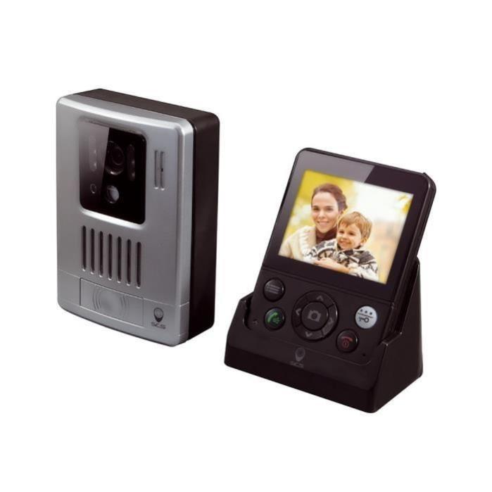 Vezeték Nélküli Video-kaputelefon Scs Sentinel Wdp-200 , 3,5″ Képernyő, Mozgásérzékelés, Fényképfelvétel, Átviteli Távolság 200 M