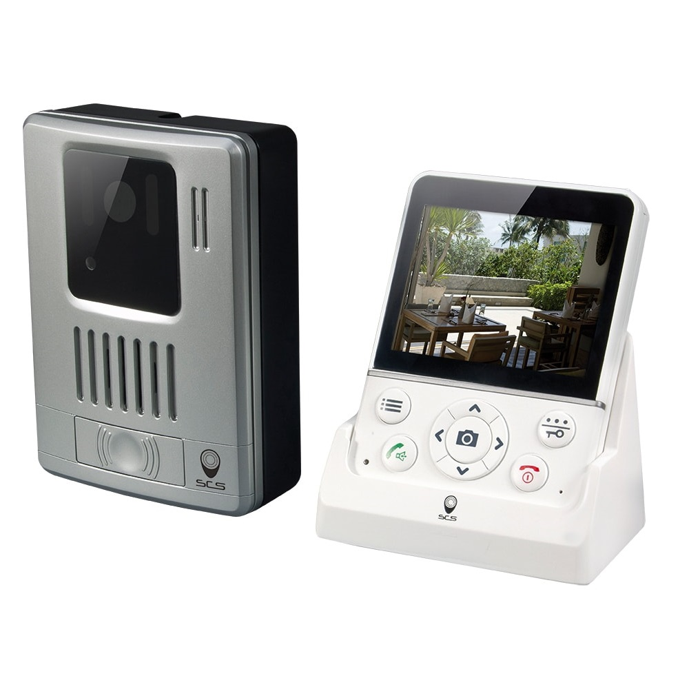 Vezeték Nélküli Video Kaputelefon Scs Sentinel Wdp-100 , 3,5″ Képernyő, Átviteli Távolság 100 M, Fotó